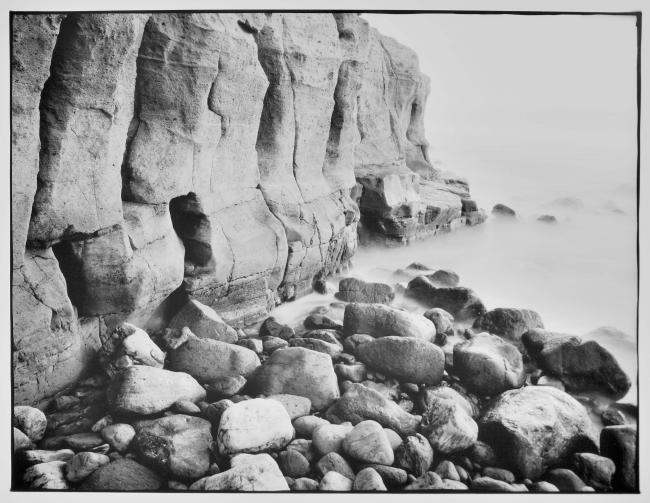 Cran Canaria coast print silvergelatine black and white photography